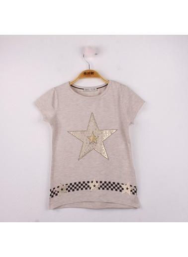 Toontoy Toontoy  Kız Çocuk T-Shirt Yıldız Baskı M.Yeşili 8 Yaş K-142 Kahve